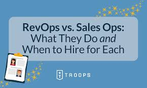Sales Operations Org Chart Revenue Operations Vs Sales Operrations When To Hire For Each
