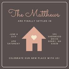 Get Together Invitation Template Extraordinary House With Heart Housewarming Invitation Templates By Canva