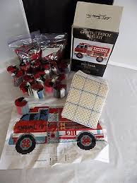 1 of 9 fire truck graph n latch rug kit 37650 32 x 17 mcg