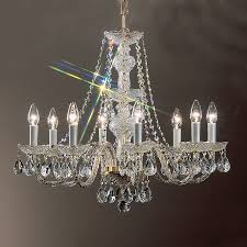 design classic lighting. Classic Lighting Monticello 27-in 8-Light 24k Gold Plate Crystal Candle Chandelier Design