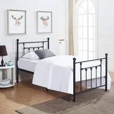 full platform bed. VECELO Bed Frames Twin Size Victorian Metal Platform Bed,Box Spring Replacement With Headboard Full