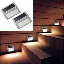 Small Picture 2 Units Energy Saving LED Solar wall Lamp Outdoor Solar LED Lights