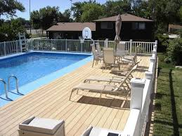 above ground pool with deck attached to house. Above Ground Pool Steps Attached To Deck With House H