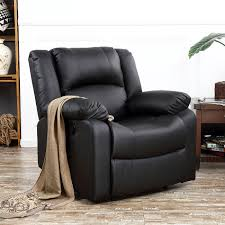 dark brown leather recliner chair. Recliner-Chairs-For-Living-Room-Dark-Brown-Black- Dark Brown Leather Recliner Chair I