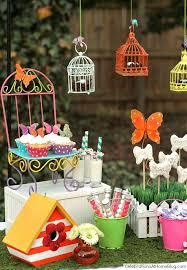 garden party ideas. Whimsical Kids Garden Party Ideas - Dessert Display