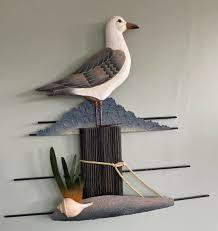 wood wall sculpture nautical coastal 23