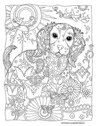 Small Picture De Stress With Dogs Page Photo In Dog Coloring Pages For Adults at