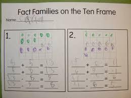 ten frame fact families