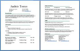 2 Page Resume Examples Examples Of Resumes