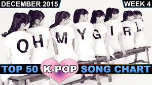 2015 Top Charts Songs K Pop Song Chart Top 50 December 2015 Week 4