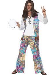 Mens Hippie Fancy Dress Costume