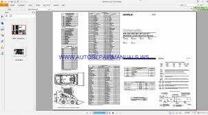 Skid Steer Size Chart Caterpillar 236 277 Skid Steer Loader Electrical Schematics