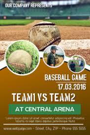 Baseball Brochure Template Customize 490 Baseball Templates Postermywall