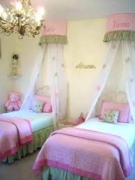 Beds For Girl Twin Size Bed All Canopy Cover White Ruffle Top Single ...