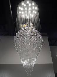 huge crystal chandelier foyer light large