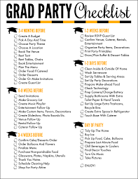 Event Planning Checklist Pdf Free Printable Graduation Party Checklist Oh My Creative
