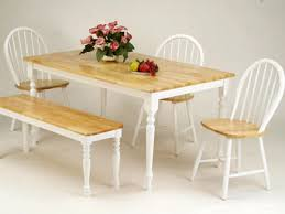 White Kitchen Table With Bench And Chairs Kitchen Furniture 833 With