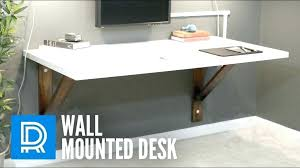 wall mounted countertop desk to natural walnut mounting bracket mount kitchen