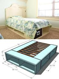 diy bed beautiful twin storage bed diy bed risers