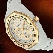 rousseau watches new rousseau white ip plated mens watch tusa tachymeter bezel