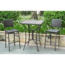 impressive bar height outdoor dining table set 22 room delectable small decoration using red stripe chair pads including square white wood bistro and tall