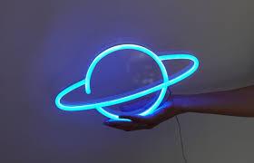 Planet Neon Light Planet Led Neon Sign Hair Studio Ideas In 2019 Led Neon