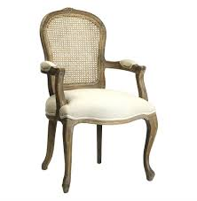 french cane chair. Lyon French Country Cane Back Linen Dining Arm Chair R