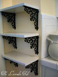 diy corner shelf elegant shelves with brackets from hobby lobby and a piece of wood diy
