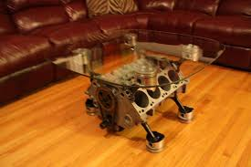 coffee table engine block for living room decor ideas