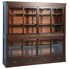 antique japanese bookcase or cabinet with sliding glass doors circa 1890s for