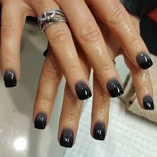 Black & Grey SNS ombre #snsnails #sns #winternails ...