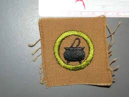 Cooking Merit Badge The Scout Patch Auction Insignia Merit Badges Type A Square