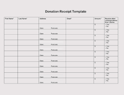15 Donation Receipt Template Professional Resume