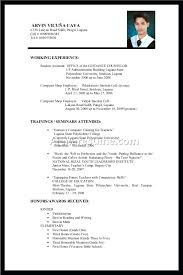 Sample Of Resume For Working Student Sample Resume Templates For Collegeents College Student