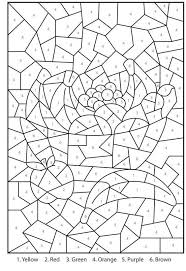 color by number free. Contemporary Free Free Printable Color By Number Coloring Pages For Adults   Throughout M