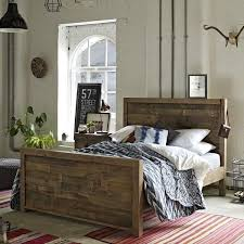 modish furniture. standford reclaimed wood bed modish living industrial look furniture