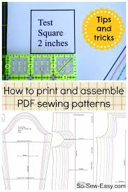Downloadable Sewing Patterns Delectable How To Print And Assemble A PDF Pattern So Sew Easy