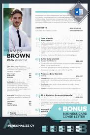 James Brown Data Scientist Resume Template Design Ideas For