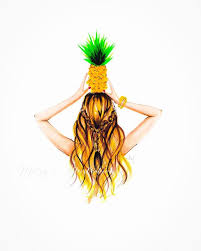 cute pineapple drawing. the pineapple by melsys on etsy cute drawing