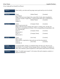 Different Types Of Resumes For Freshers Perfect Resume Format