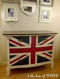 union jack furniture. union jack dresser in white with wood top furniture