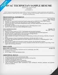 Hvac Technician Resume Sample Http Resumesdesign Com Hvac