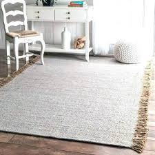 jute runner rug handmade solid cotton fringe grey 5 x braided stair uk enchanting r
