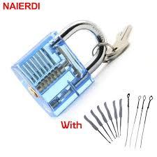 <b>NAIERDI Locksmith</b> Hand Tools <b>Lock</b> Pick Set Transparent Visible ...