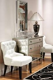 mirrored furniture decor. glamorous hallway with soft white chairs and mirrored chest furniture decor s