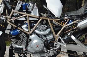 ducati v one twin to supercharged single conversion ducati v one closeup