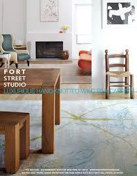 Fort Street Studio s Twig Light rug installation ad As seen in
