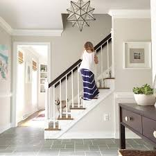 beige paint wall color edgecomb gray foyer
