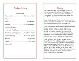 Program Notes Template Funeral Program Examples Example Program Booklet Elegant