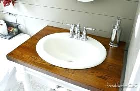 diy bathroom countertop butcher block bathroom cupcake vanity butcher block bathroom diy bathroom countertop wood